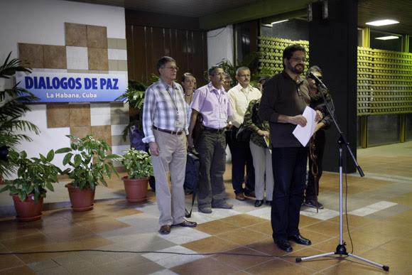 El comandante de las Fuerzas Armadas Revolucionarias de Colombia (Farc), Iván Márquez. Foto: Ismael Francisco/Cubadebate.