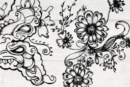 Unsur Unsur Dekoratif Yang Samar Vektor Misc Vektor Gratis Download