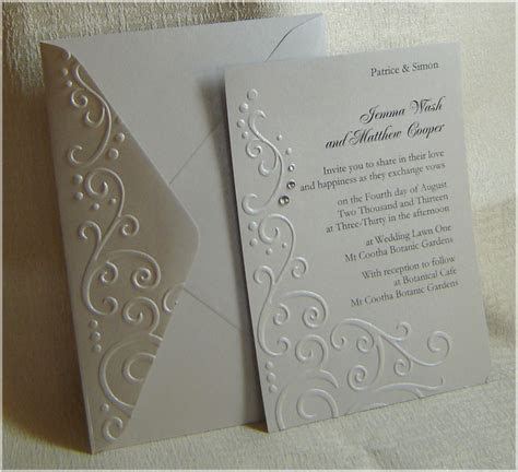 handmade embossed wedding invitations   passionate about paper
