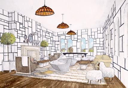 Interior Design Rendering Pamplemousse Inc Delphine Krakoff