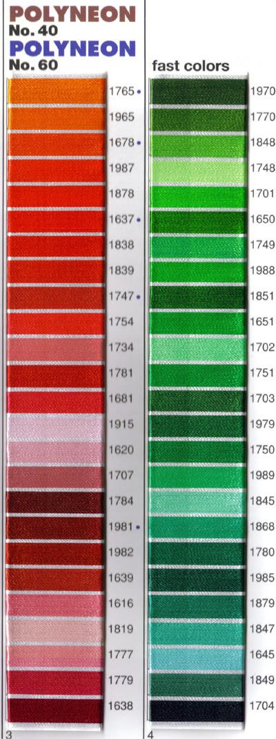 Madeira Thread Color Chart