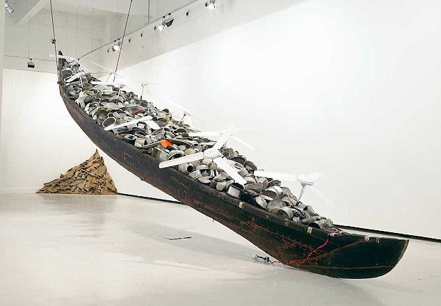 Subodh Gupta's installation titled