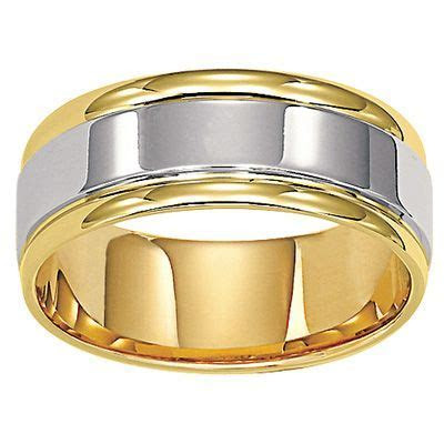 Zales Men's 8.0mm Comfort Fit Wedding Band in 14K Two Tone