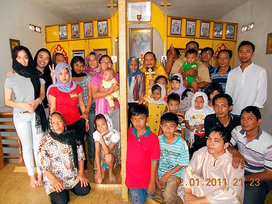 Hiermonk Ioasaph (Tandibilang) with parishioners