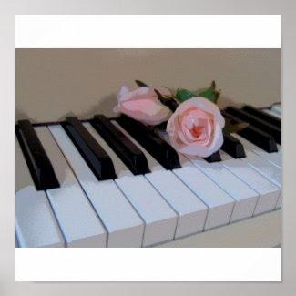 Petal Pink Keys Posters