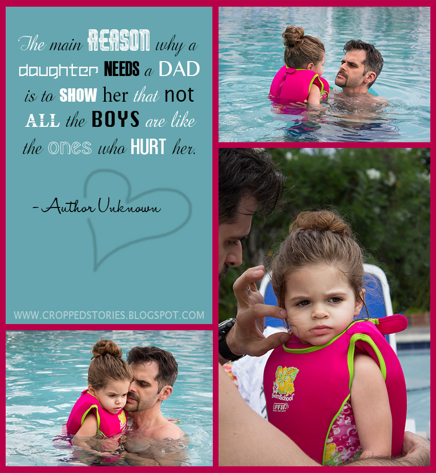 Daddy daughter in pool