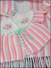 Rosebud Layette Crochet Pattern Pack - Electronic Download