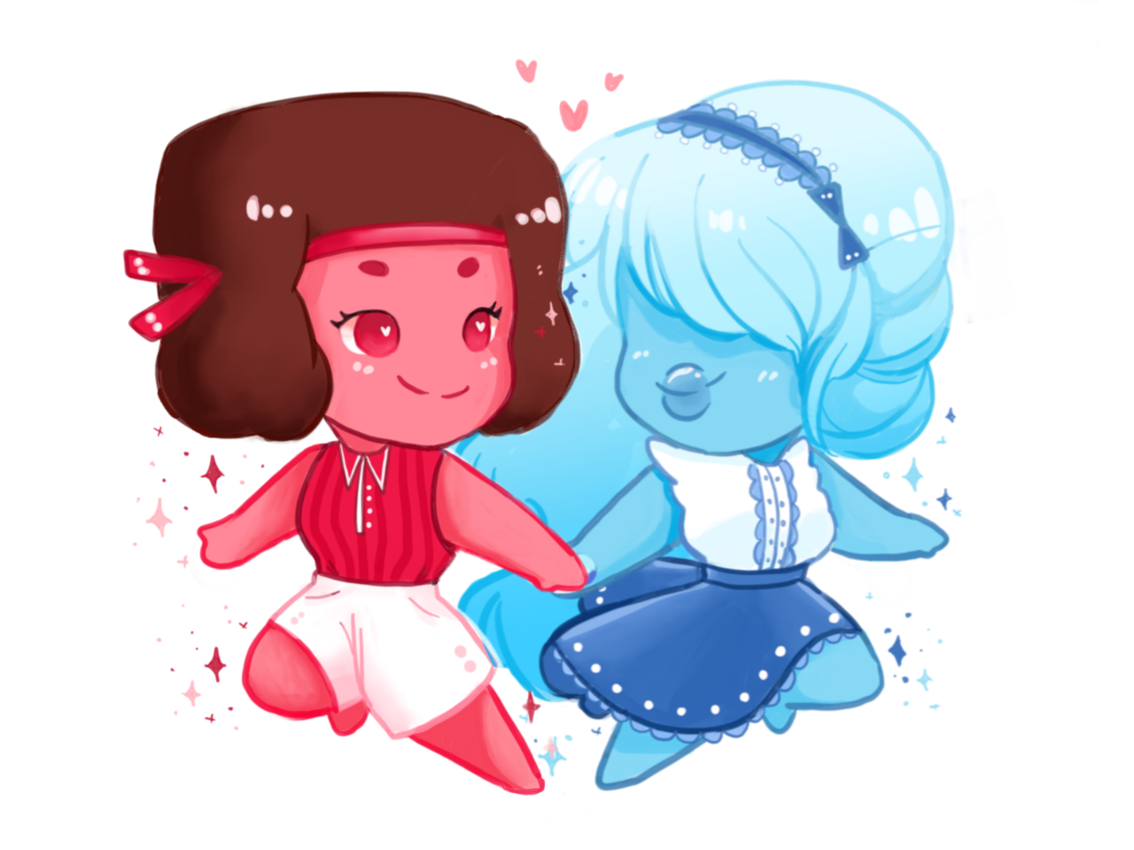 Girlfriend cuties pt 3 : Ruby + Sapphy