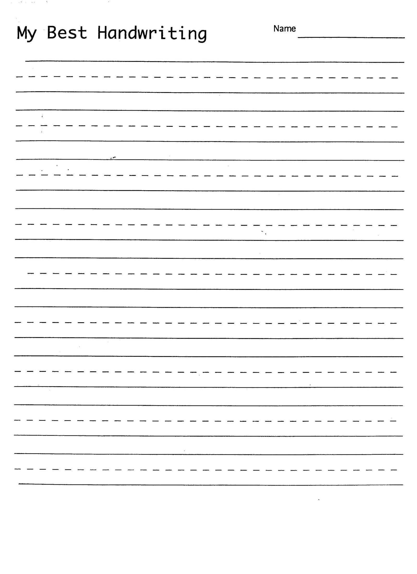 Best Printable Handwriting Sheets