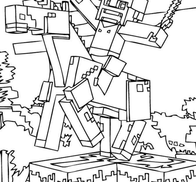 ausmalbilder kostenlos minecraft bilder zum ausmalen