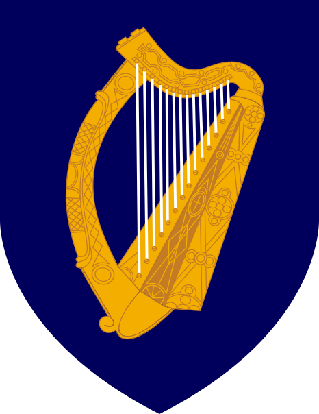 Archivo:Coat of arms of Ireland.svg