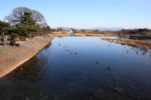 Togetsukyo bridge in Arashiyama, Kyoto