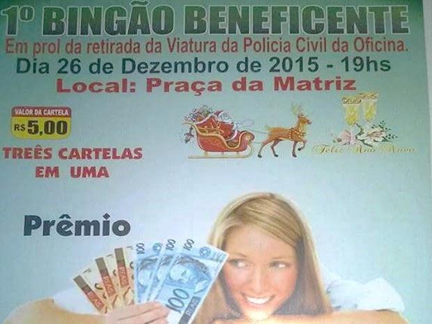 Prêmio para vencedor do bingo é de um salário mínimo (Foto: Reprodução)
