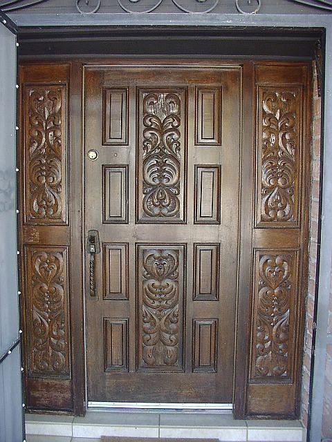 wooden front door design for home  | 576 x 720