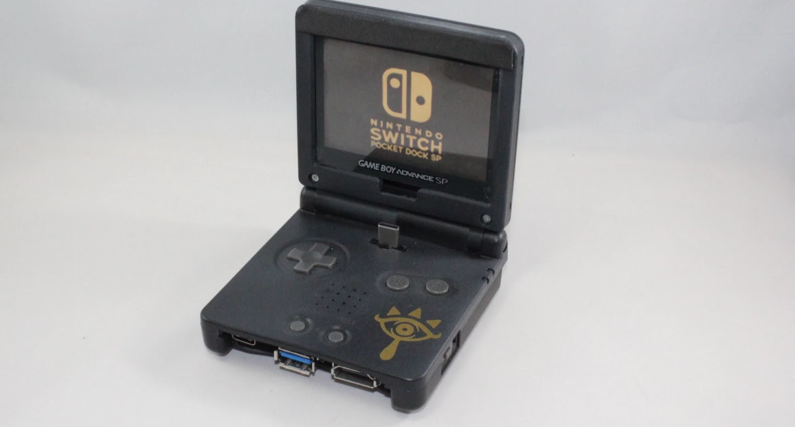 This GBA SP Switch dock is crude, but functional screenshot