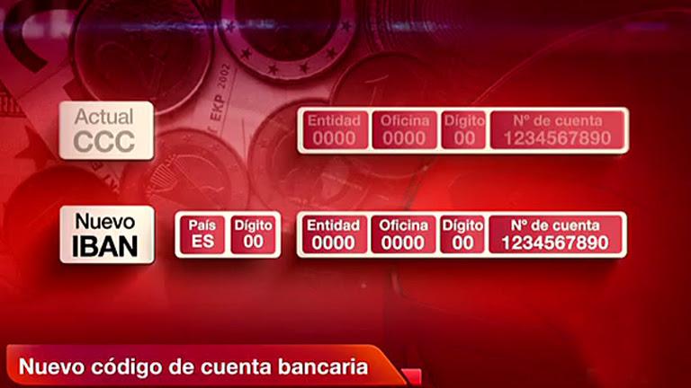El IBAN sustituye al código cuenta cliente (CCC) a partir del 1 de febrero