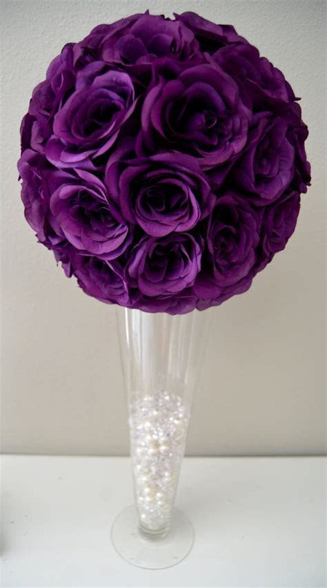 Purple flower ball, PURPLE WEDDING CENTERPIECE, Purple