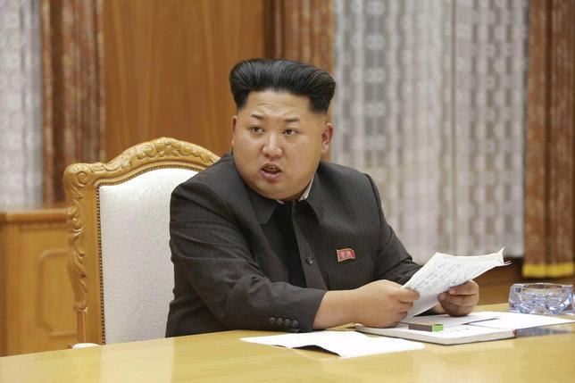 8月25日、北朝鮮と韓国は緊張緩和に向けた合意に達したが、北朝鮮が韓国を挑発する真の目的は何か。写真は北朝鮮の金正恩第1書記。21日に朝鮮中央通信提供(2015年 ロイター)