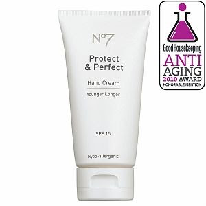Boots No7 Protect and Perfect Hand Cream Sunscreen SPF 15