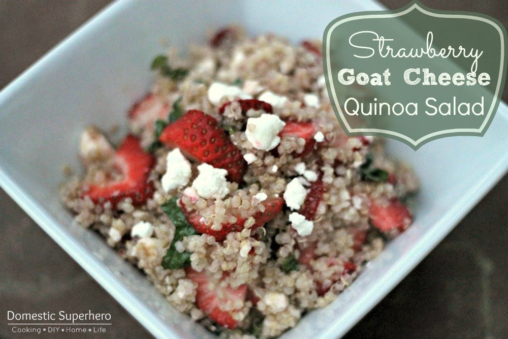 Strawberry Goat Cheese Quinoa Salad