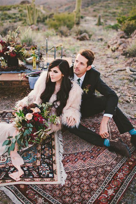 Bohemian Arizona desert wedding inspiration   Wedding