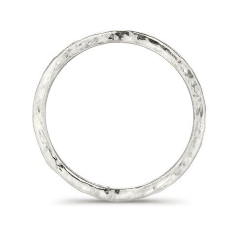 Hammered Wedding Ring in Fairtrade White Gold   FrillyByLily