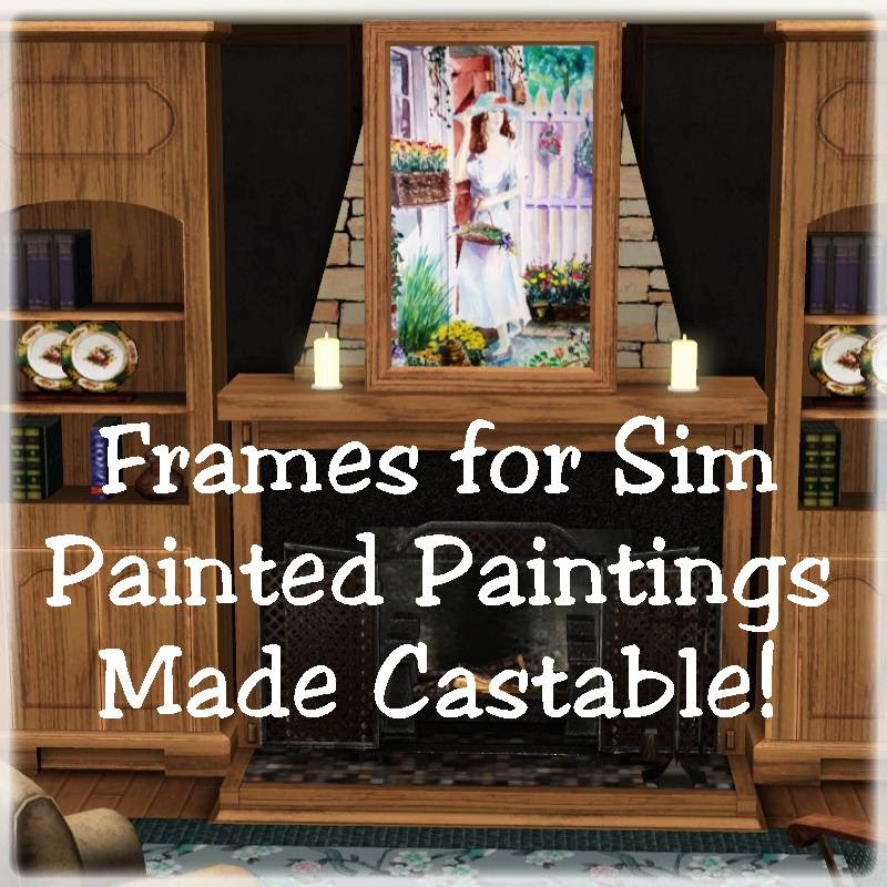 Mod The Sims Sim Painted Painting Frames Made Castable