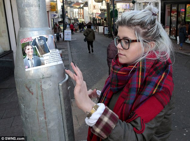 Zoe Lamb has posted missing persons photos in Gabriels Hill in Maidstone in Kent, hoping to find her brother