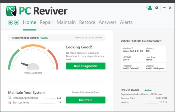ReviverSoft PC Reviver 2.8.2.2 Portable Full Free Download