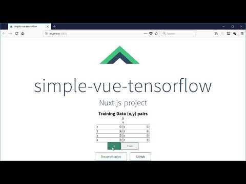 Creating a tensorflow js + vue js simple application in