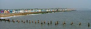 Beach huts at Southwold, Suffolk.