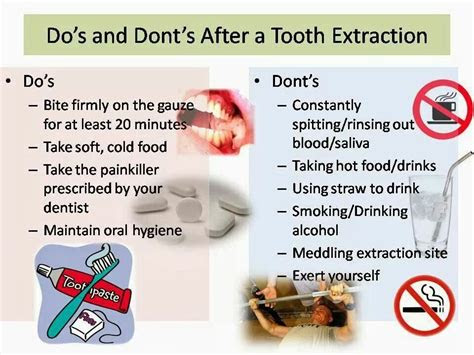 tooth extraction instructions  important