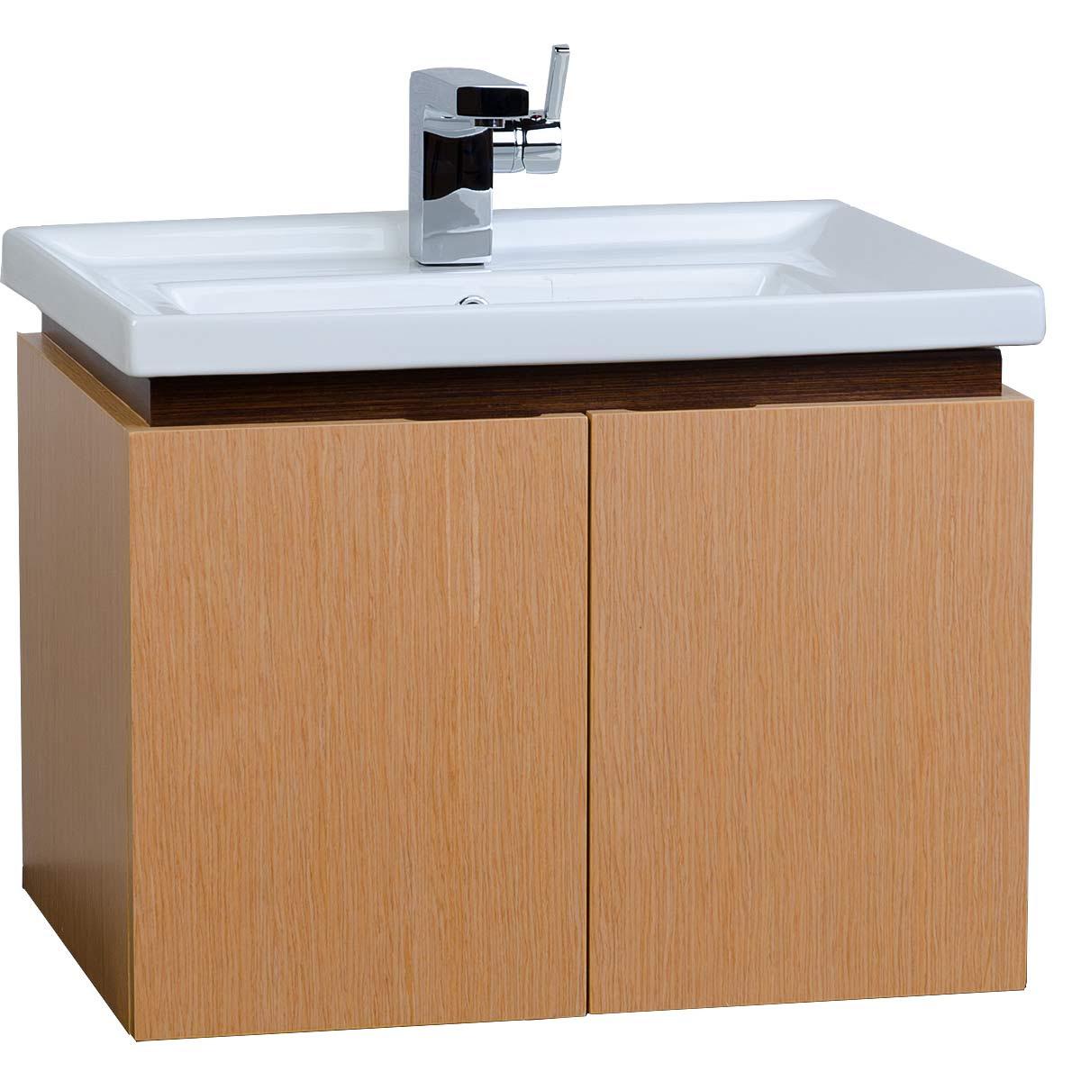"""23.5"""" Wall-mount Bathroom Vanity Set NATURAL RED OAK ..."""