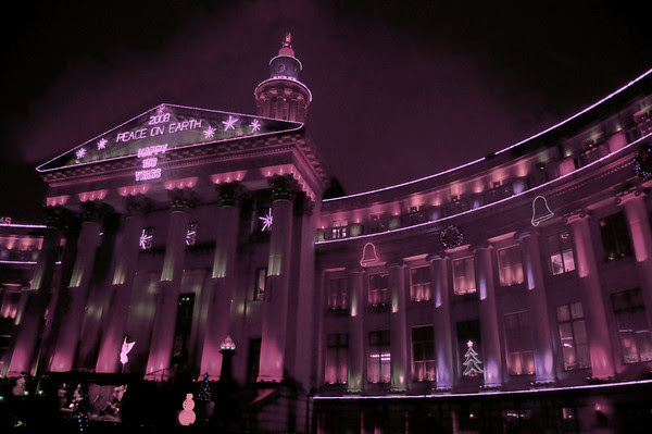 Denver City and County Building with mood filter