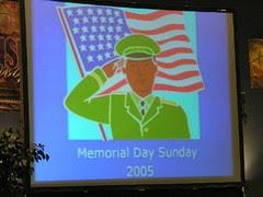 Memorial Day Sunday 2005
