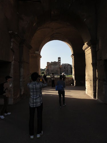 View out through a Colosseum Arch