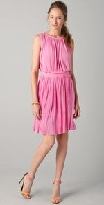 Tibi Sleeveless Pleated Dress