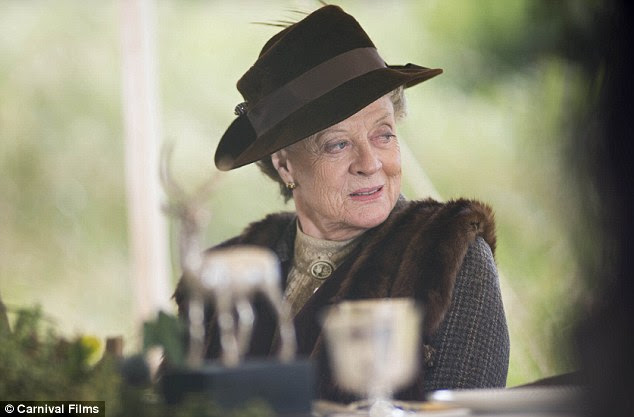 Gearing up: Dame Maggie Smith and the cast of Downton Abbey will not only be back for a fourth series, but also a Christmas special