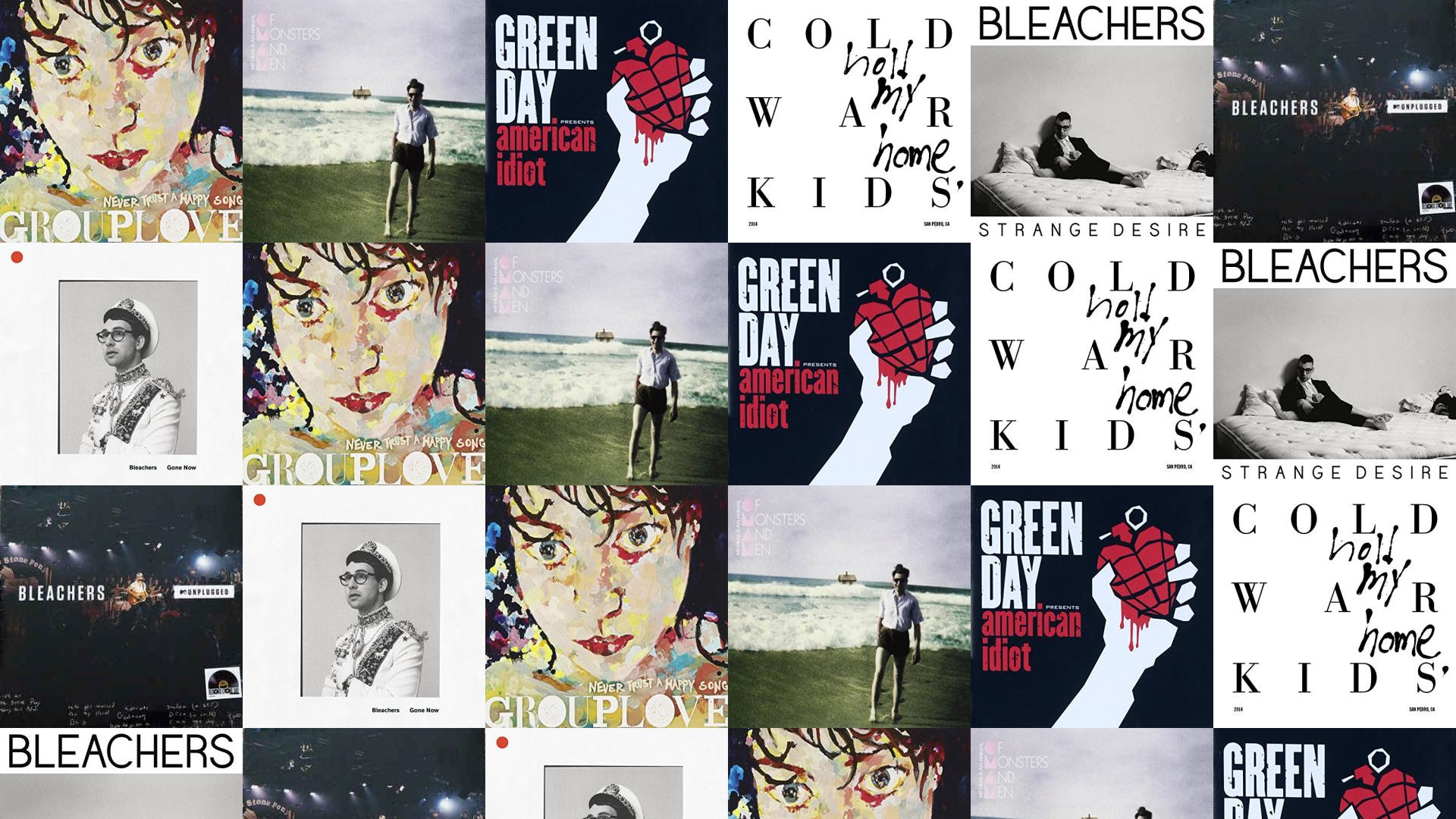 Grouplove Never Trust A Happy Song Of Monsters Wallpaper Tiled