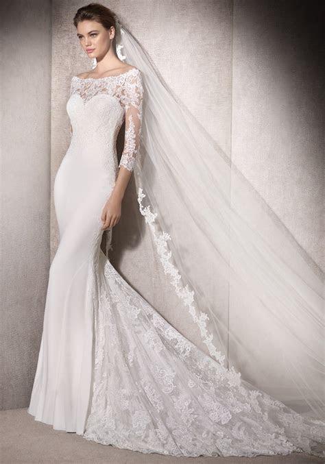St. Patrick 2018   Off Shoulder Mermaid Wedding Dress