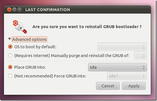 ubuntu boot repair