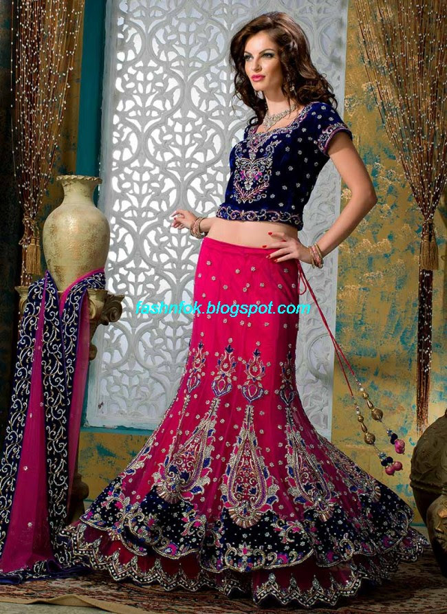 Beautiful-Cute-Girls-Wear-Bridal-Lehenga-Choli-New-Fashion-Dress-Design-2013-3