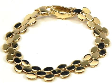 ladies  yellow gold panther clasp bracelet bright