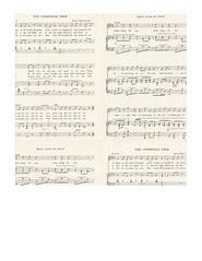 7x7 inch sq JPG Christmas GF Vintage sheet music LARGE SCALE