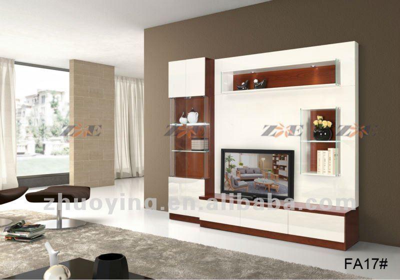Mobiliario moderno lcd tv gabinete fa17# diseño-Mueble de madera ...