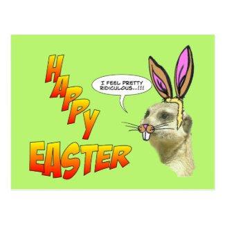 Happy Easter Meerkat Postcard Customizable