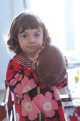 bianka with chocolate egg