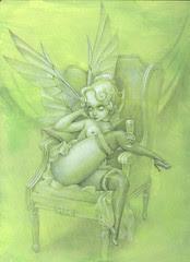 WIP - Absinthe Fairy Paint 1