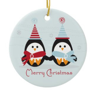 Christmas Penguin Ornament ornament