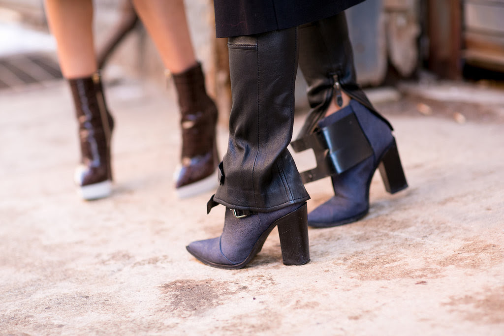 Tibi boots lend that perfectly polished kind of cool.